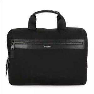 Michael Kors Kent Logo Accent Slim Briefcase Black